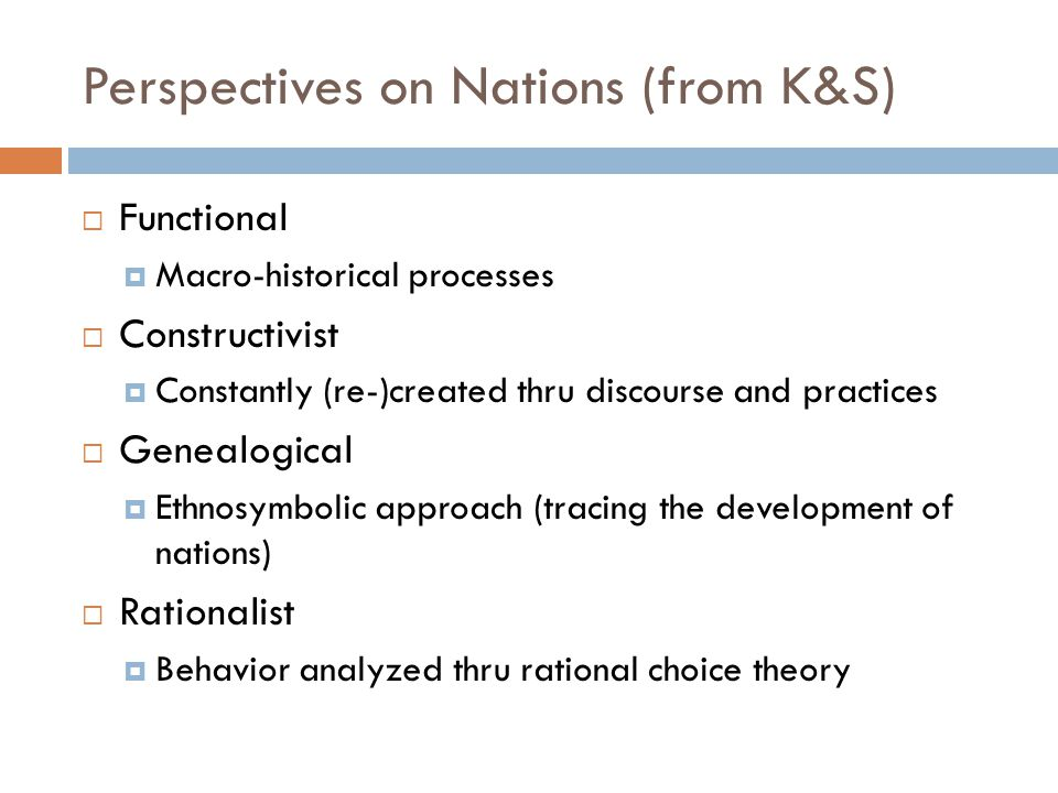 Perspectives on Nations (from K&S)