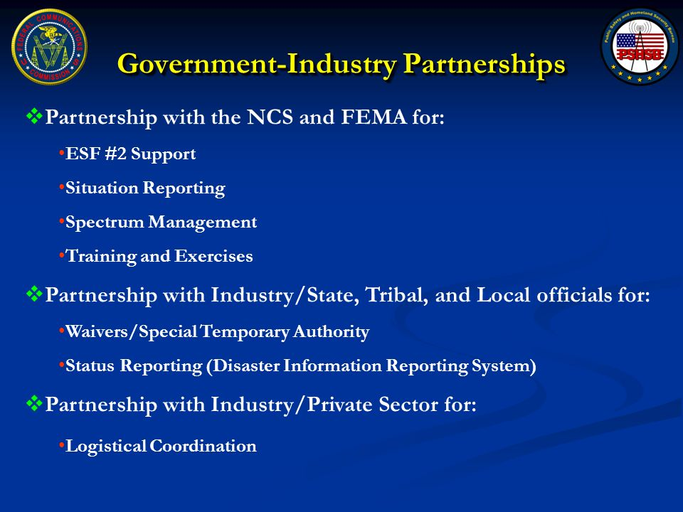 Government-Industry Partnerships