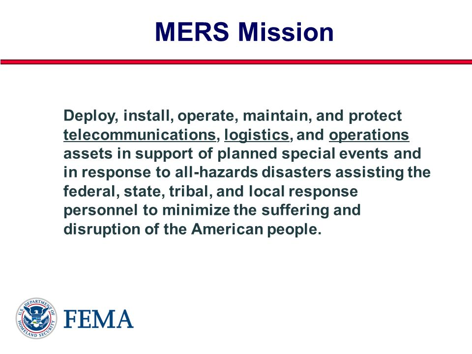 MERS Mission