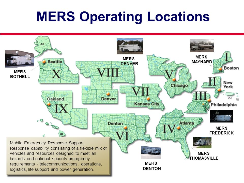 MERS Operating Locations
