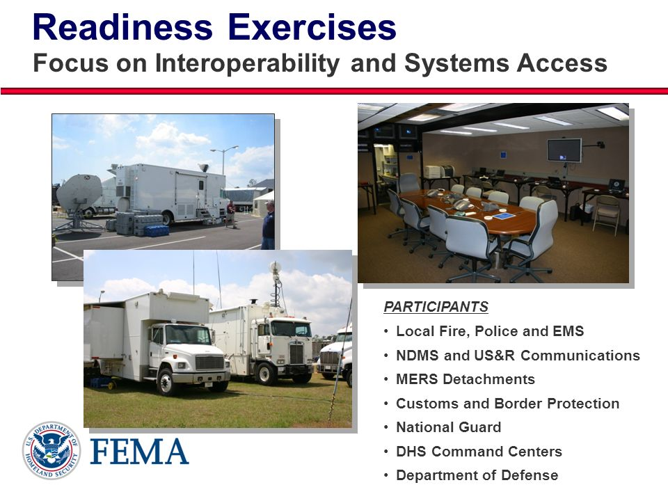 Readiness Exercises Focus on Interoperability and Systems Access