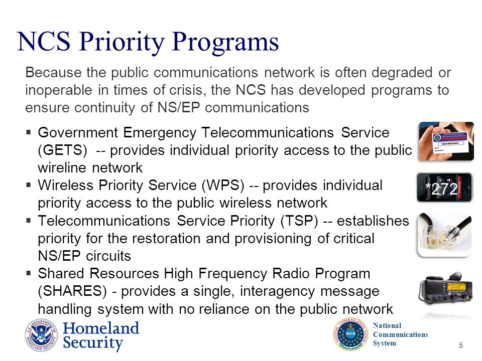 NCS Priority Programs *272