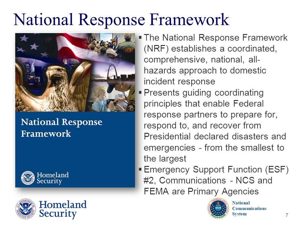 """national response framework essay The national response framework (nrf) is a great example of a national community reference according to fema's publication, """"the national response framework,"""" from 2013, the nrf is a guide which describes the basis of national response to any form of disaster."""