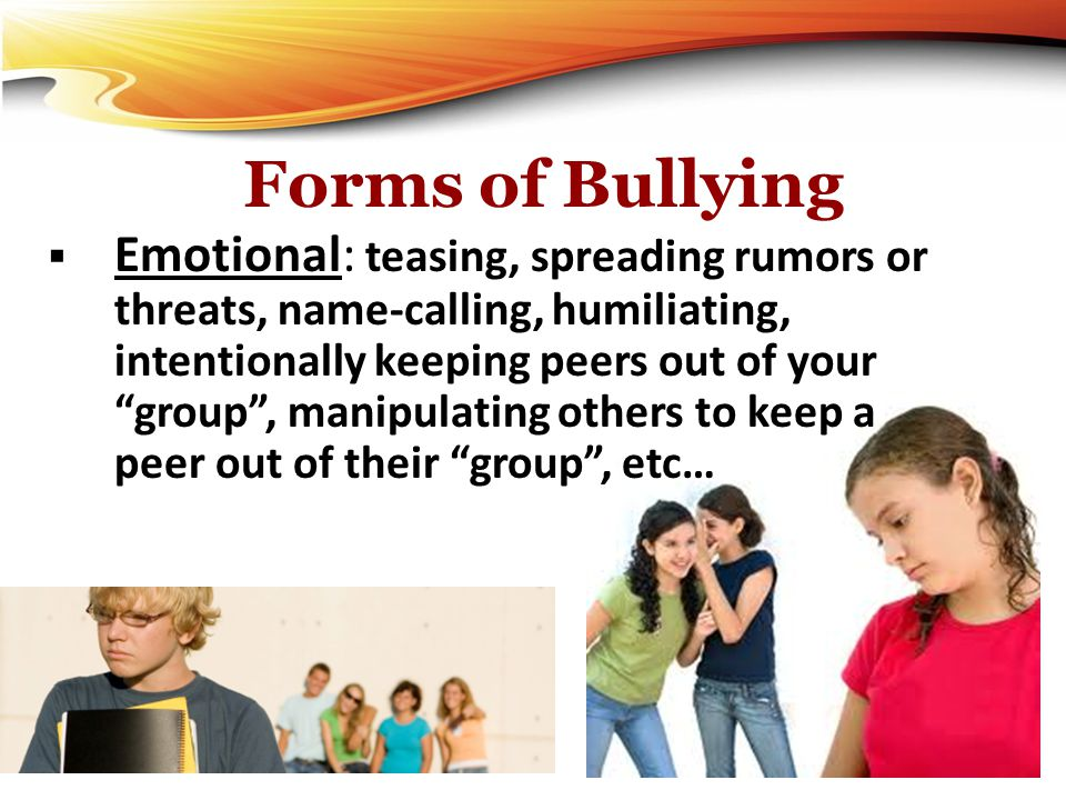 Forms of Bullying