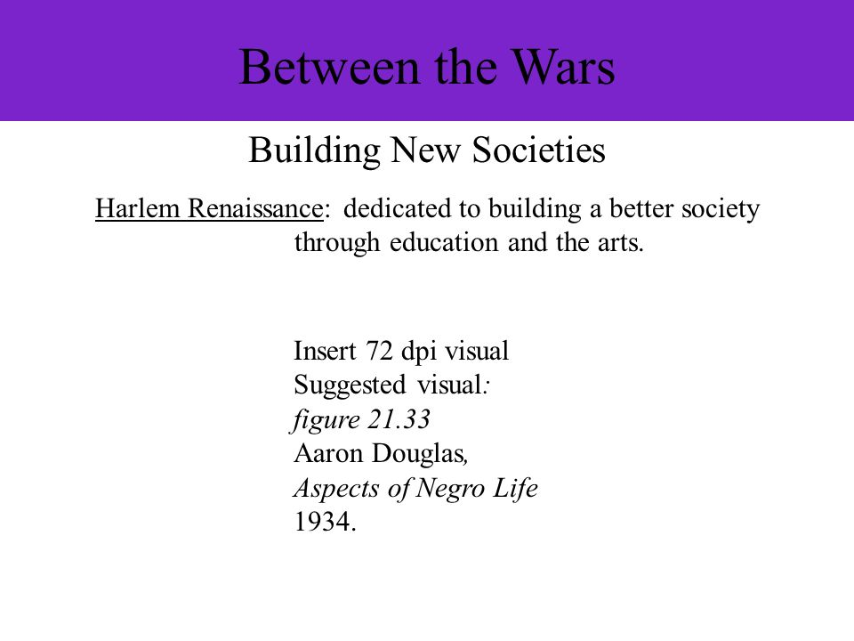 Between the Wars Building New Societies