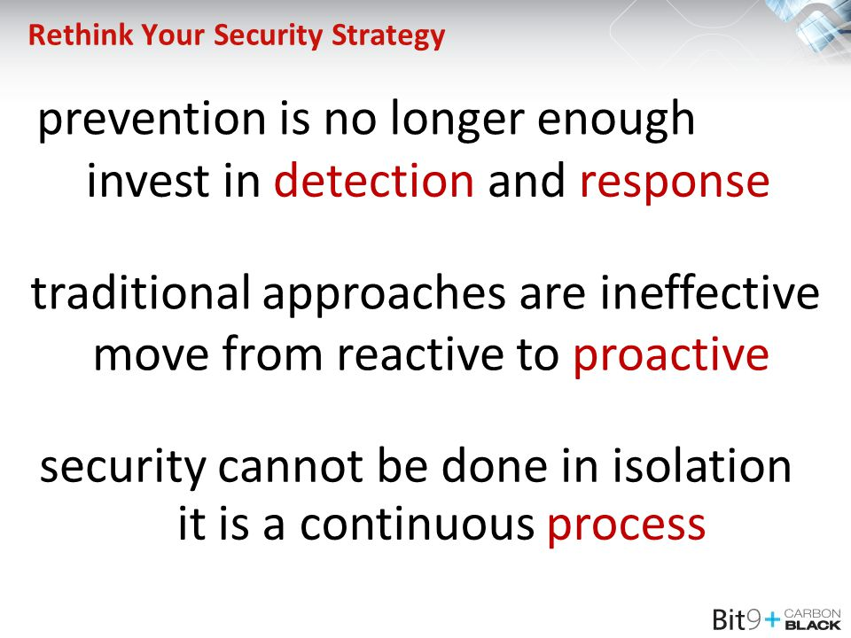 Rethink Your Security Strategy
