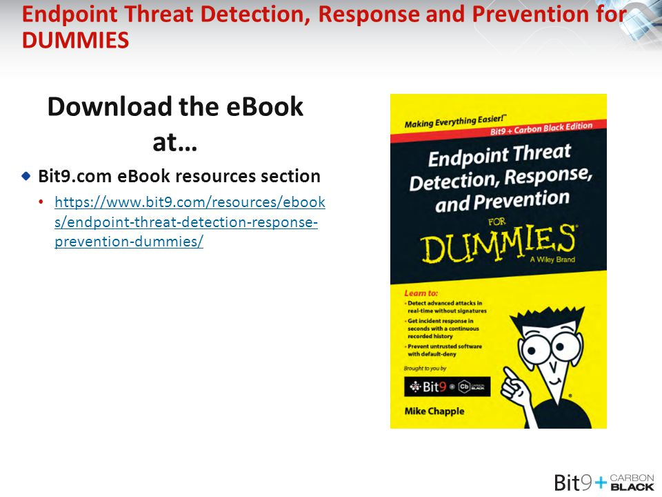 Endpoint Threat Detection, Response and Prevention for DUMMIES