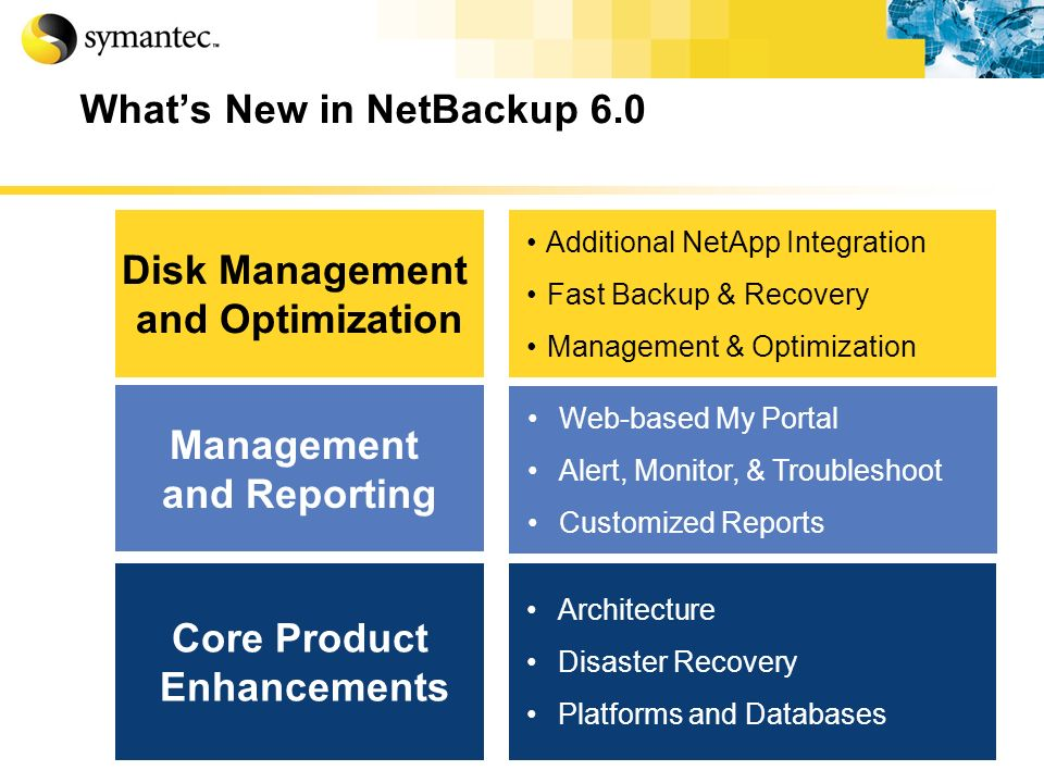 What's New in NetBackup 6.0