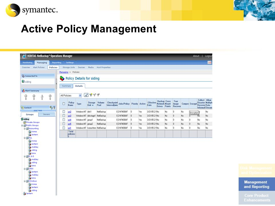 Active Policy Management