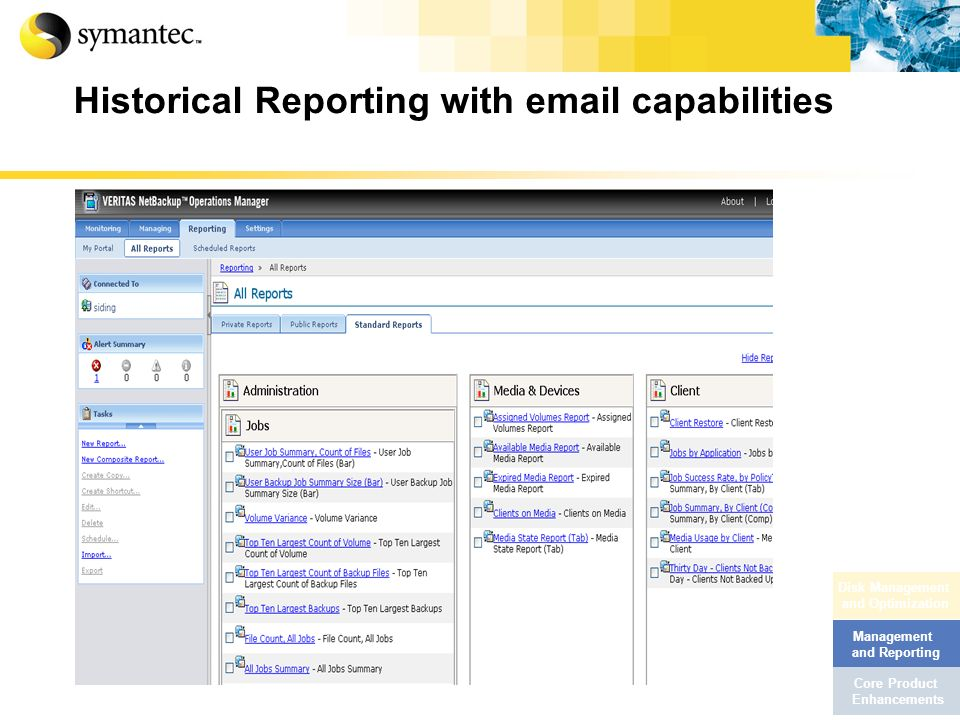 Historical Reporting with email capabilities
