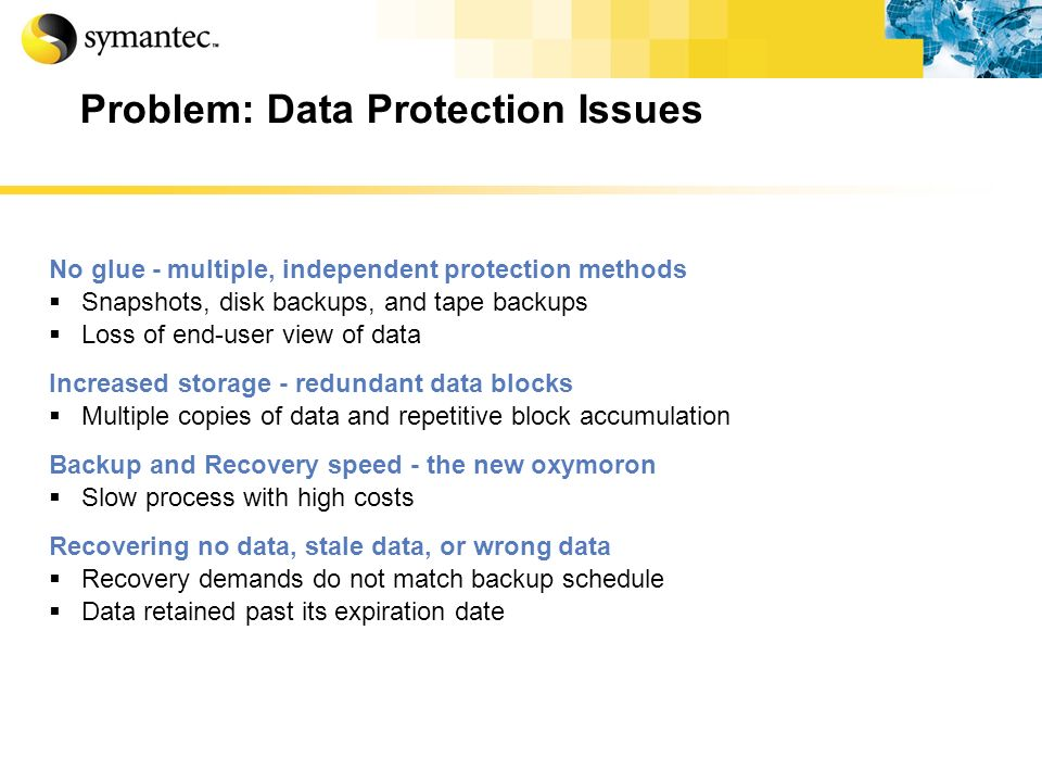 Problem: Data Protection Issues