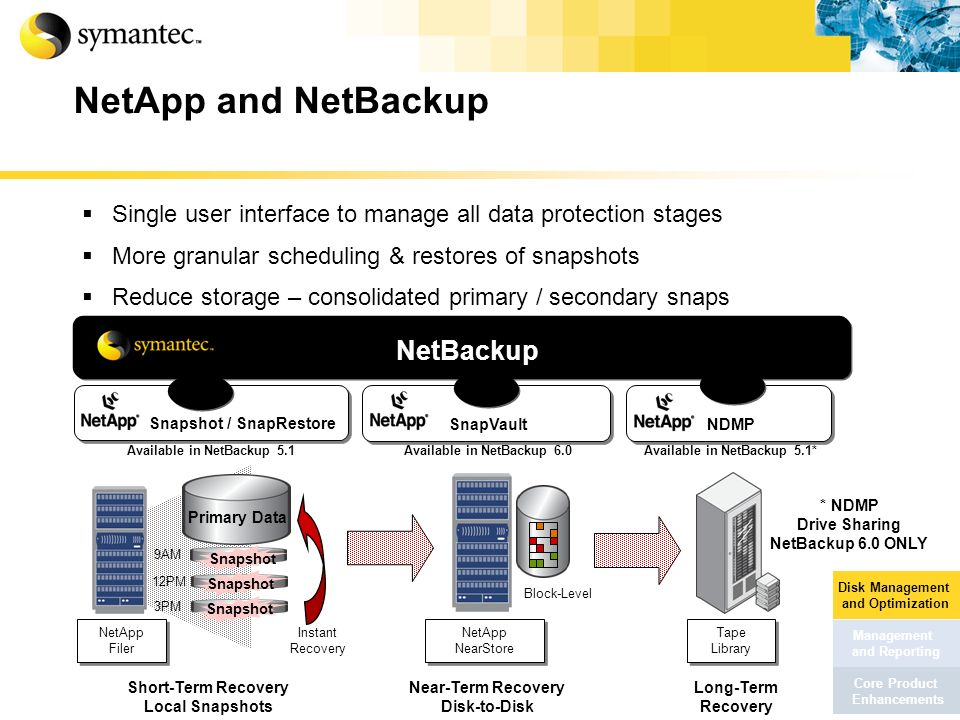 NetApp and NetBackup NetBackup