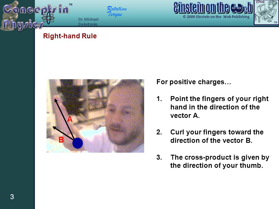A B Right-hand Rule For positive charges…