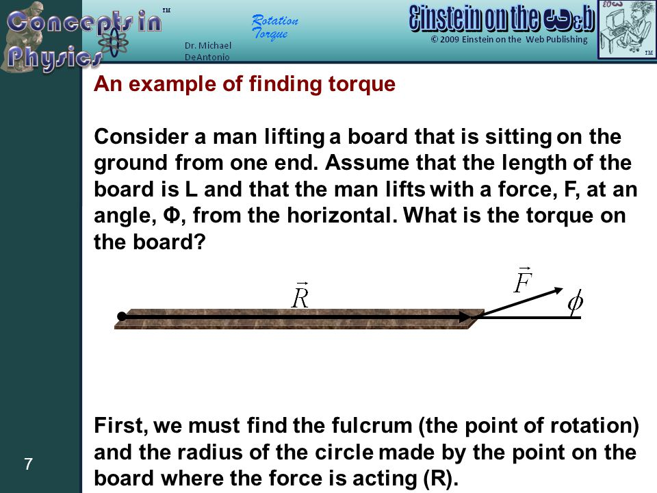 An example of finding torque