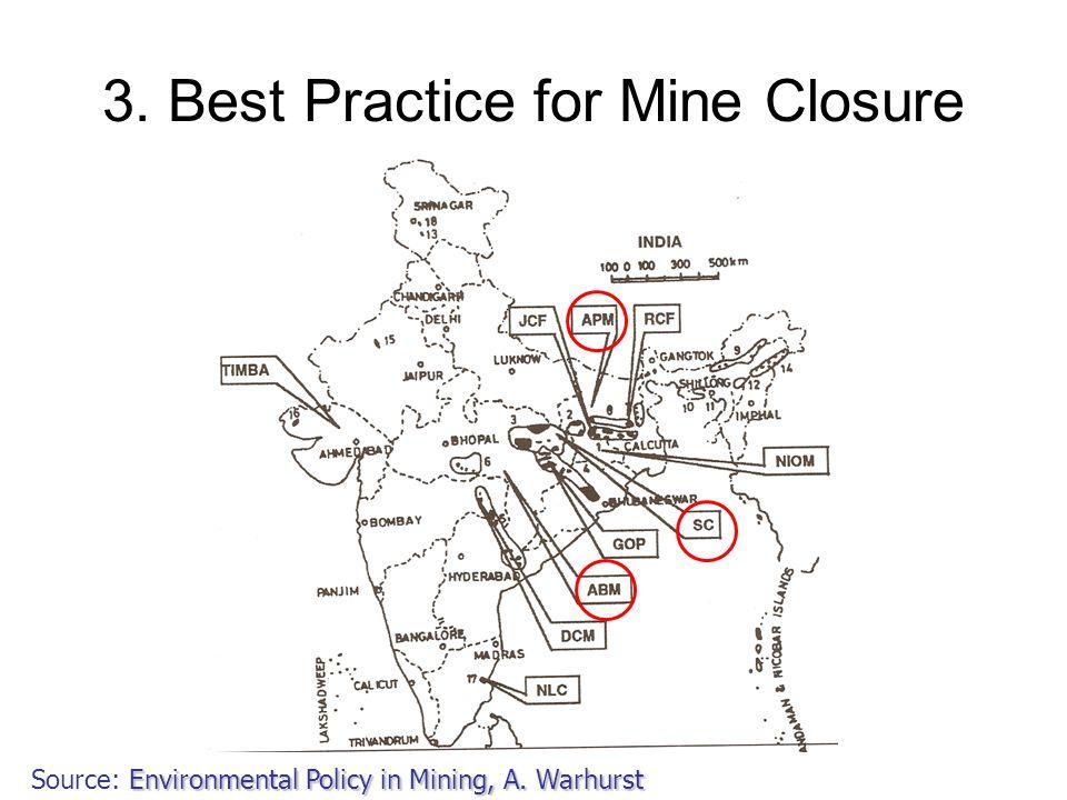 3. Best Practice for Mine Closure