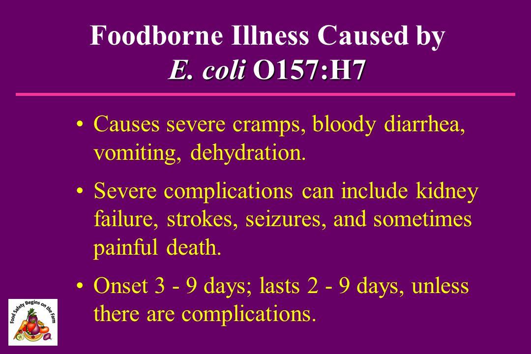 Foodborne Illness Caused by E. coli O157:H7