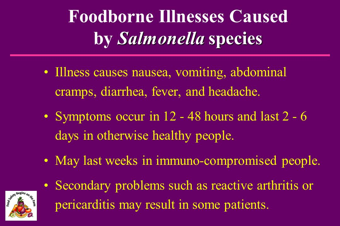 Foodborne Illnesses Caused by Salmonella species