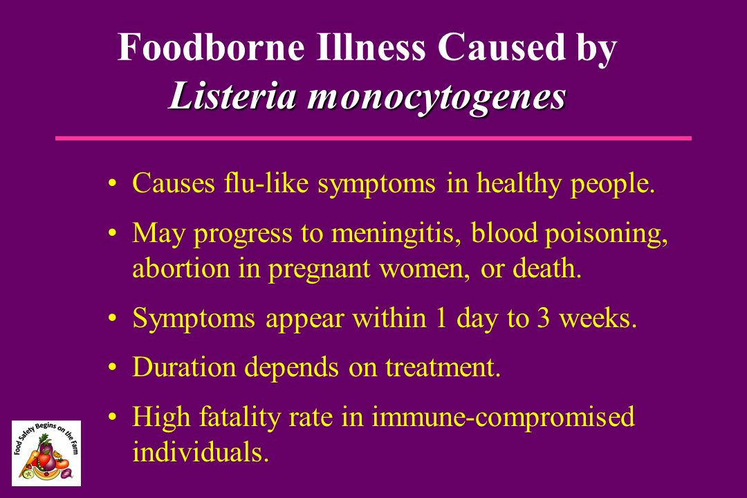 Foodborne Illness Caused by Listeria monocytogenes