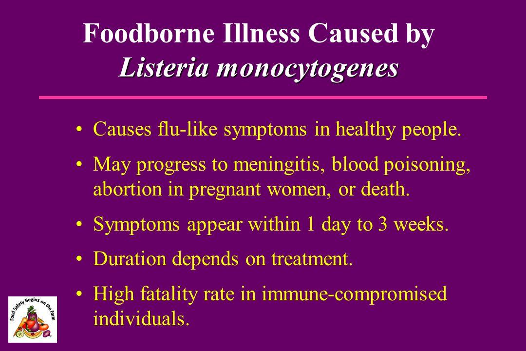 Foodborne Illness Caused by Listeria monocytogenes