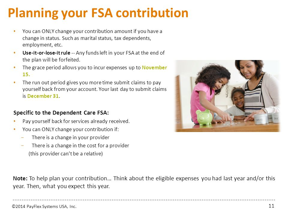 Using your FSA dollars 1. Use the PayFlex Card®, your account debit card. You may use the card to pay for eligible health care FSA expenses.