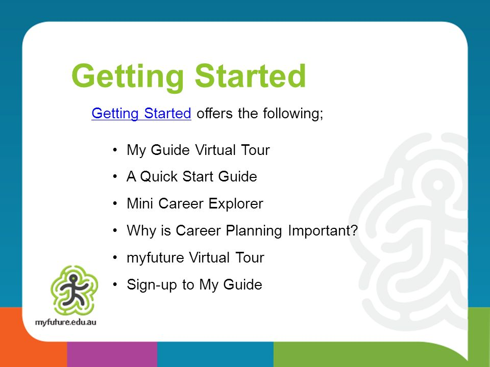 Getting Started Getting Started offers the following;