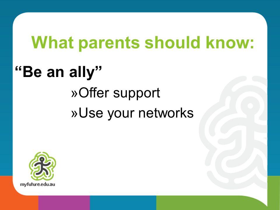 What parents should know: