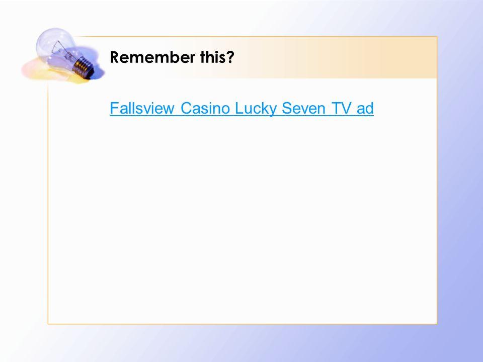 Fallsview Casino Lucky Seven TV ad