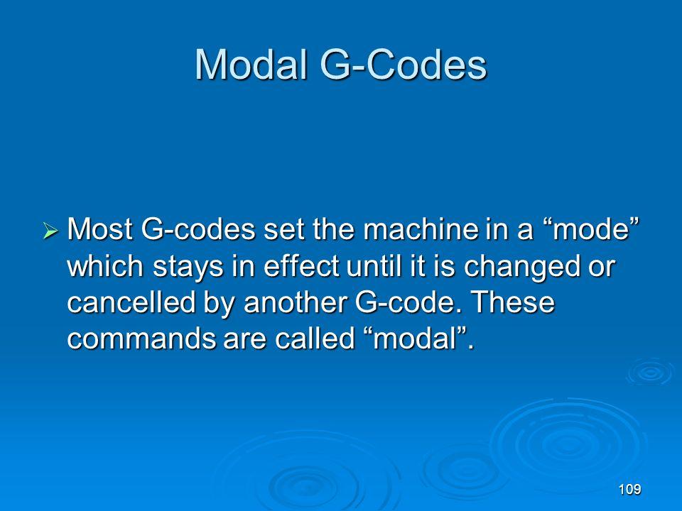 Modal G-Codes