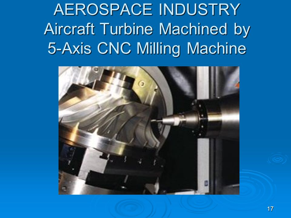 AEROSPACE INDUSTRY Aircraft Turbine Machined by 5-Axis CNC Milling Machine