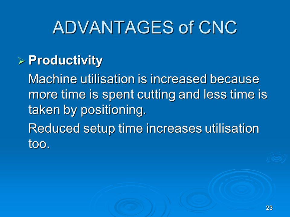 ADVANTAGES of CNC Productivity