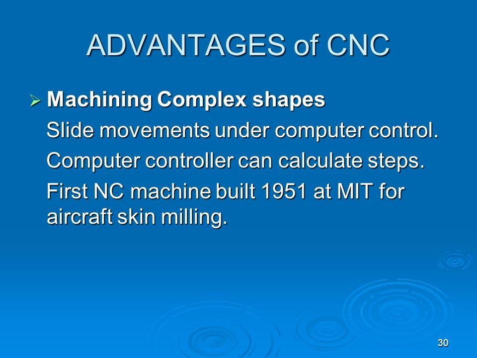 ADVANTAGES of CNC Machining Complex shapes