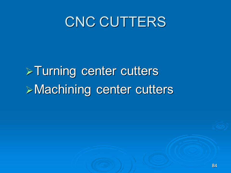 CNC CUTTERS Turning center cutters Machining center cutters