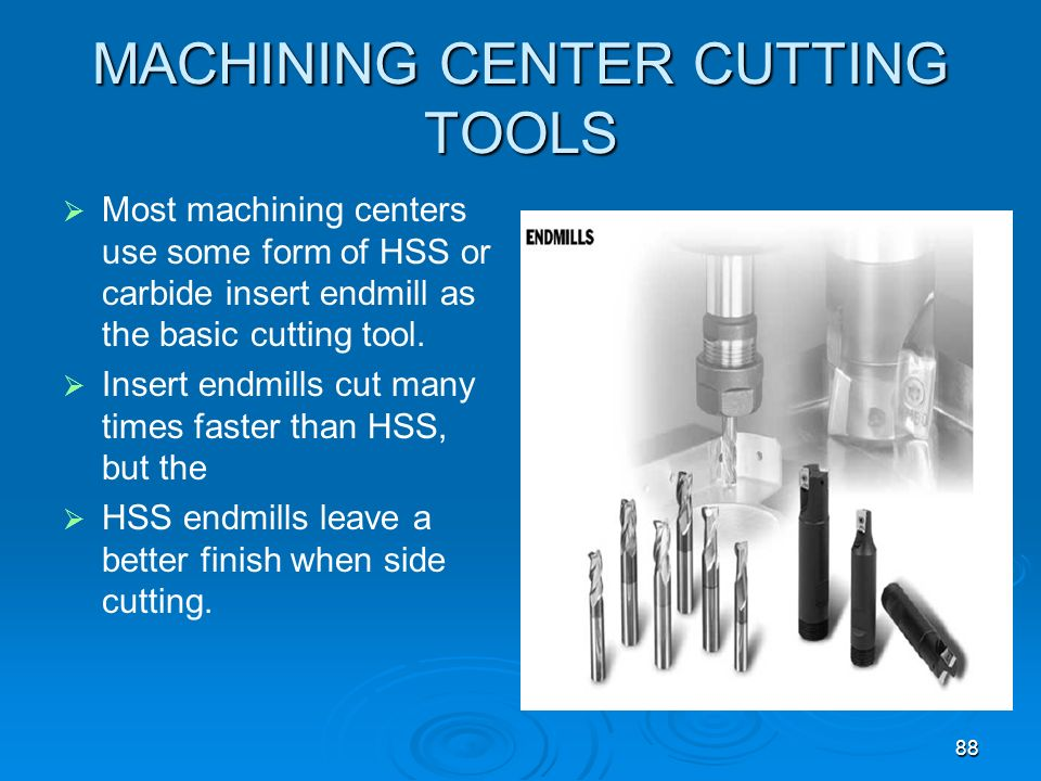 MACHINING CENTER CUTTING TOOLS