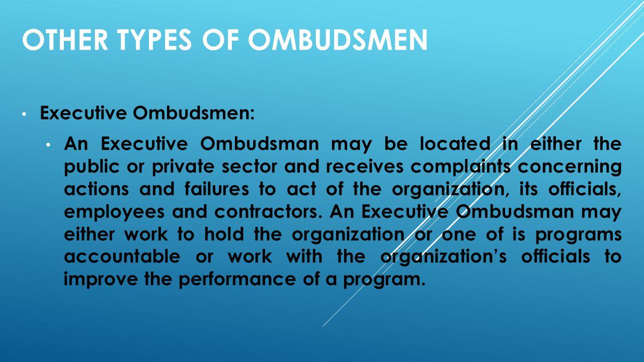 other types of Ombudsmen