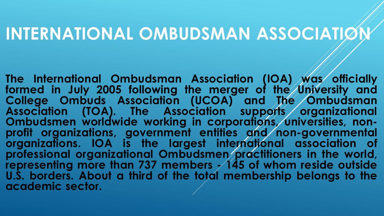 International Ombudsman association