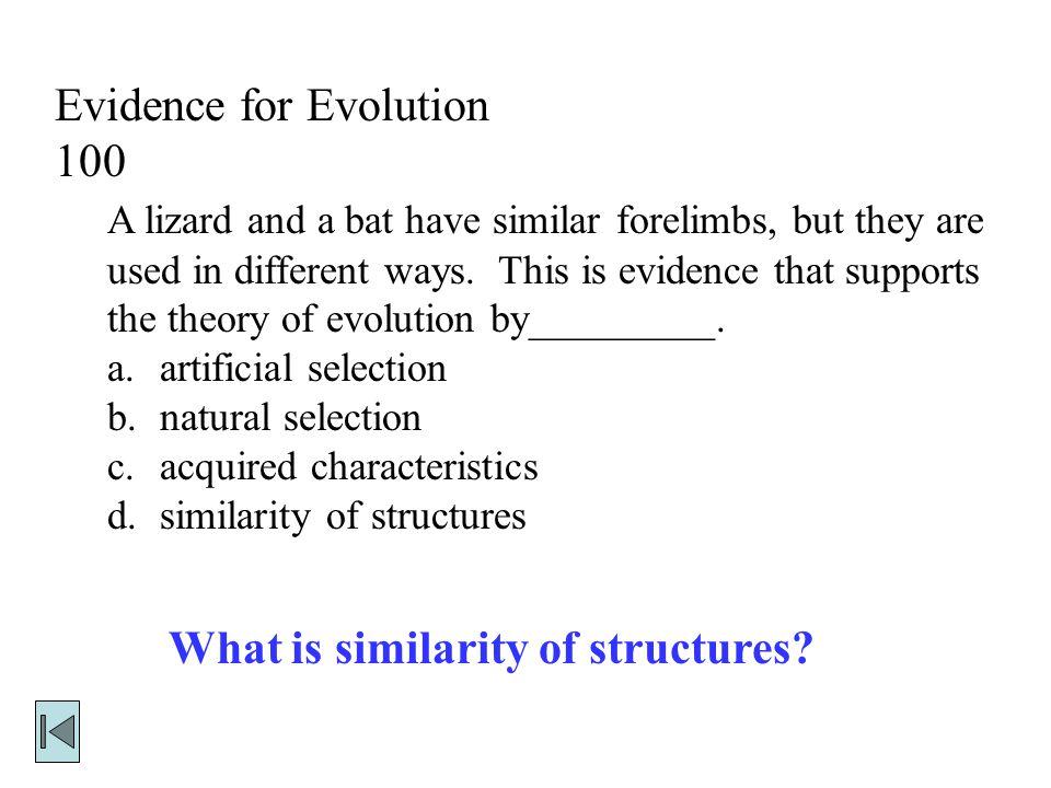 Evidence for Evolution 100