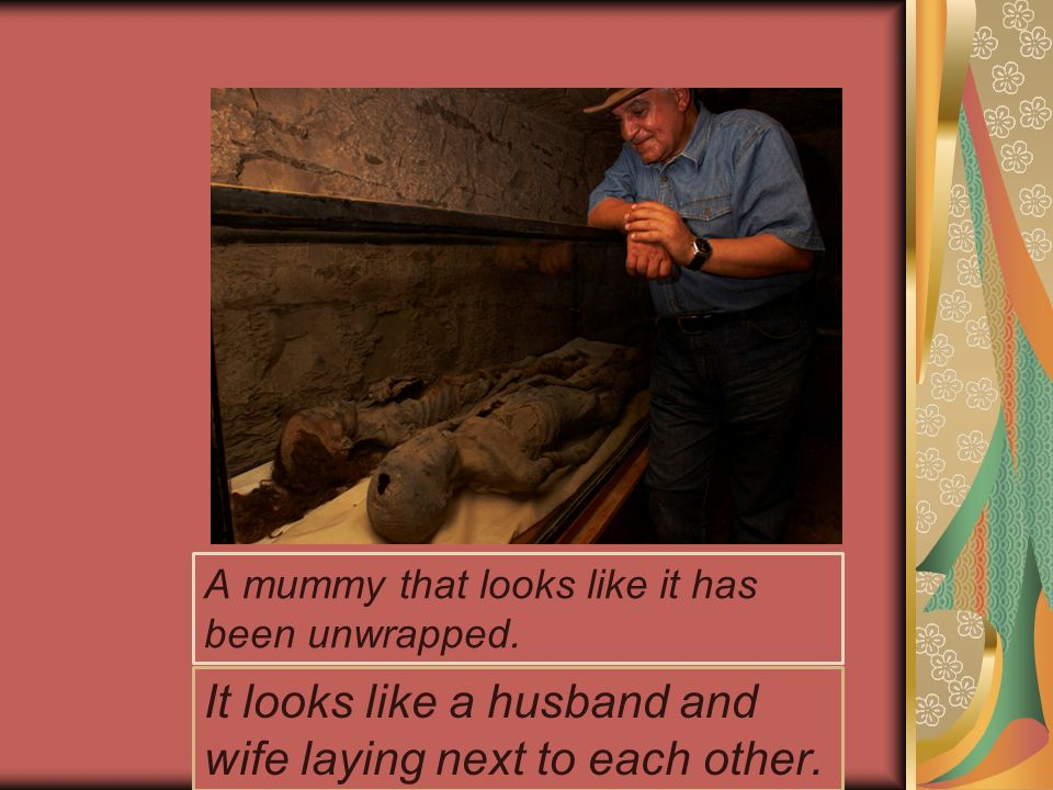 A mummy that looks like it has been unwrapped.