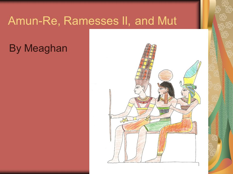 Amun-Re, Ramesses II, and Mut