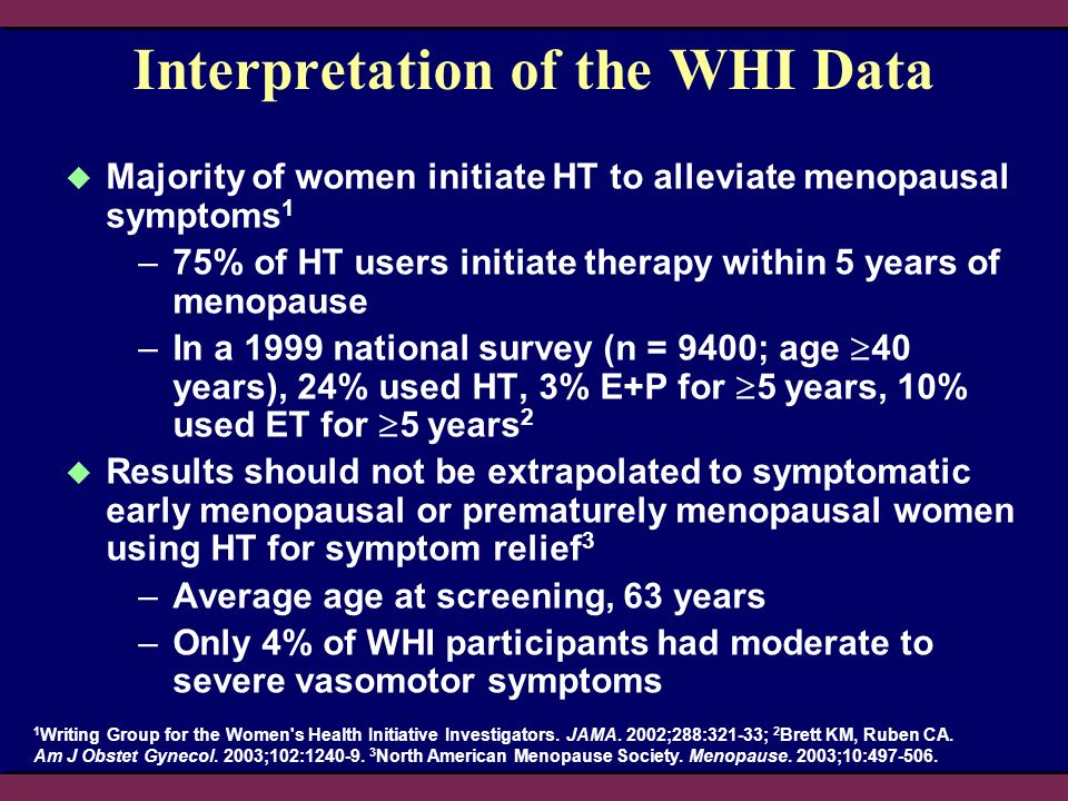 Interpretation of the WHI Data