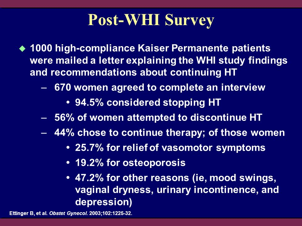2004 Patient Management Post-WHI Survey.