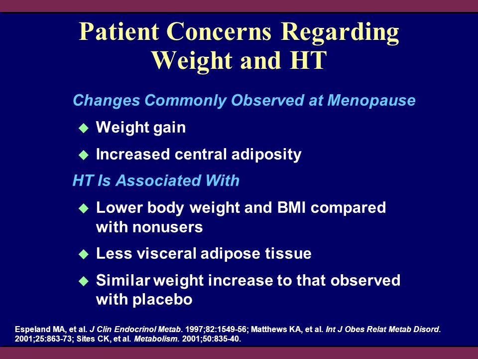 Patient Concerns Regarding Weight and HT