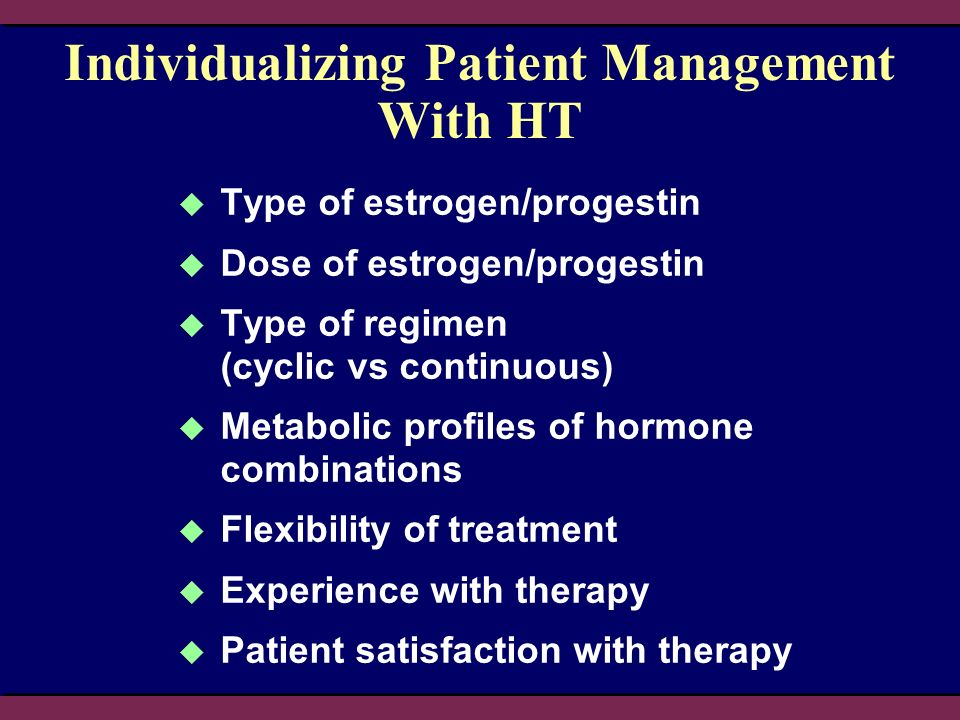 Individualizing Patient Management With HT