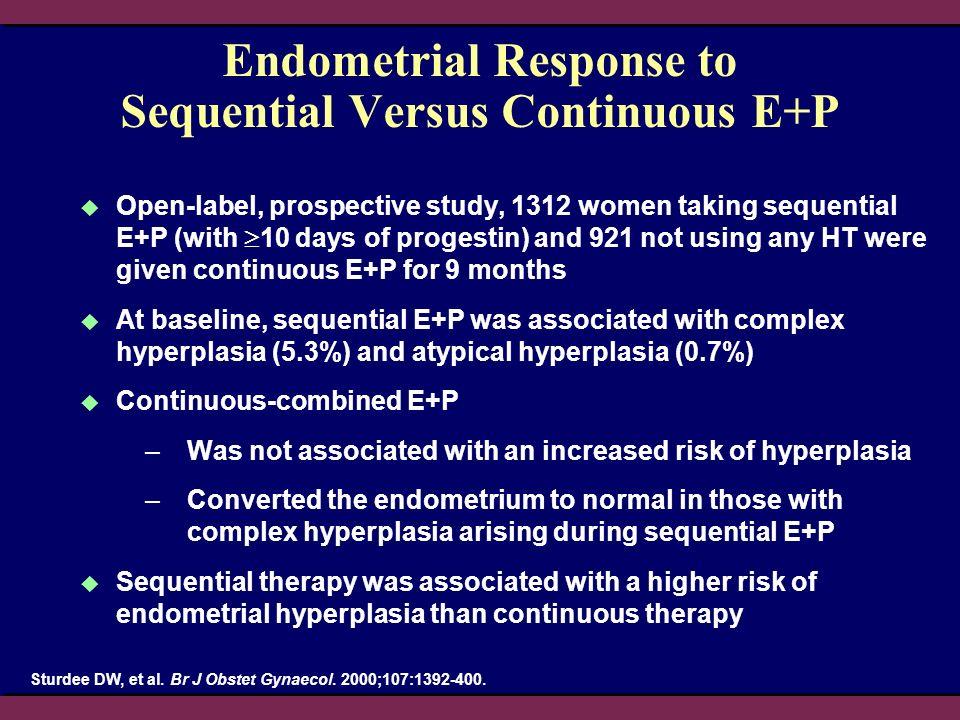 Endometrial Response to Sequential Versus Continuous E+P