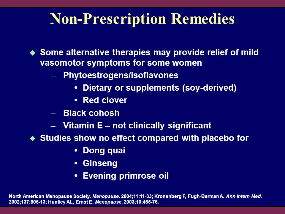 Non-Prescription Remedies