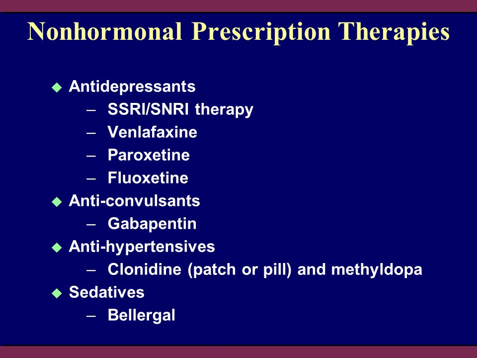 Nonhormonal Prescription Therapies