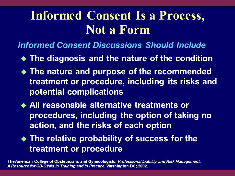 Informed Consent Is a Process, Not a Form