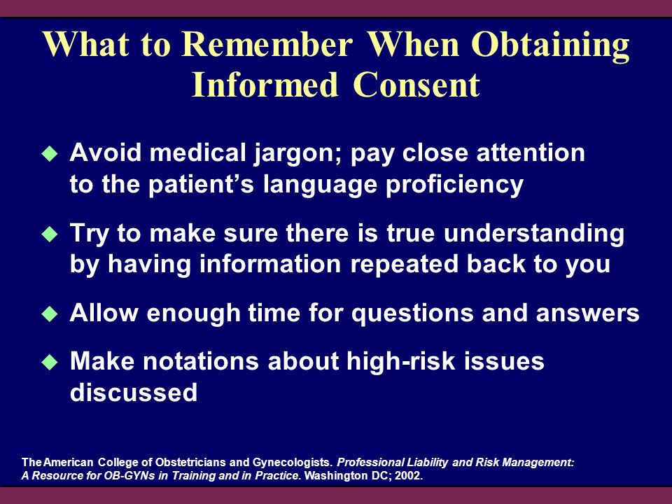 What to Remember When Obtaining Informed Consent