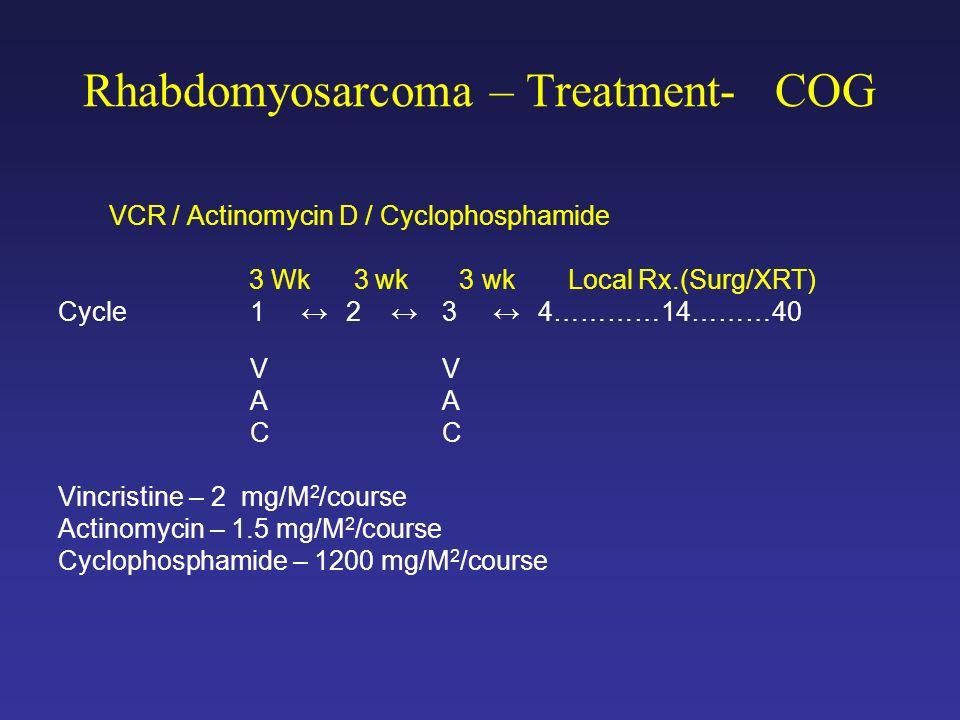 Rhabdomyosarcoma – Treatment- COG