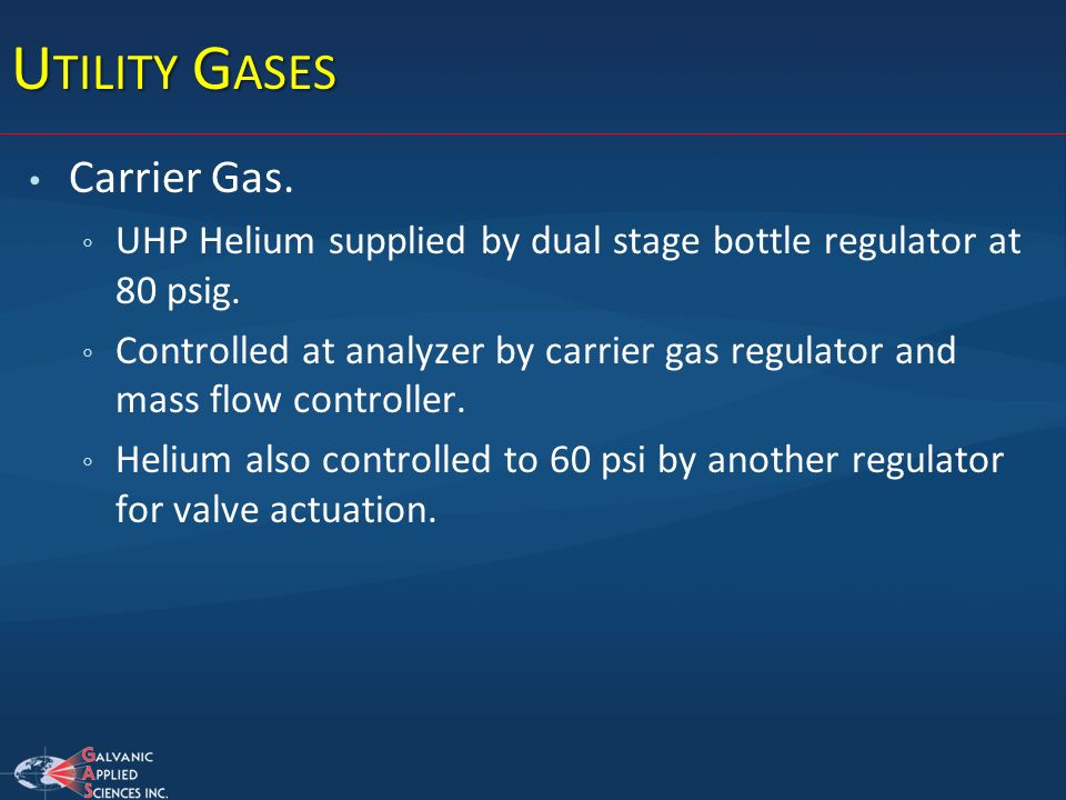 Utility Gases Carrier Gas.