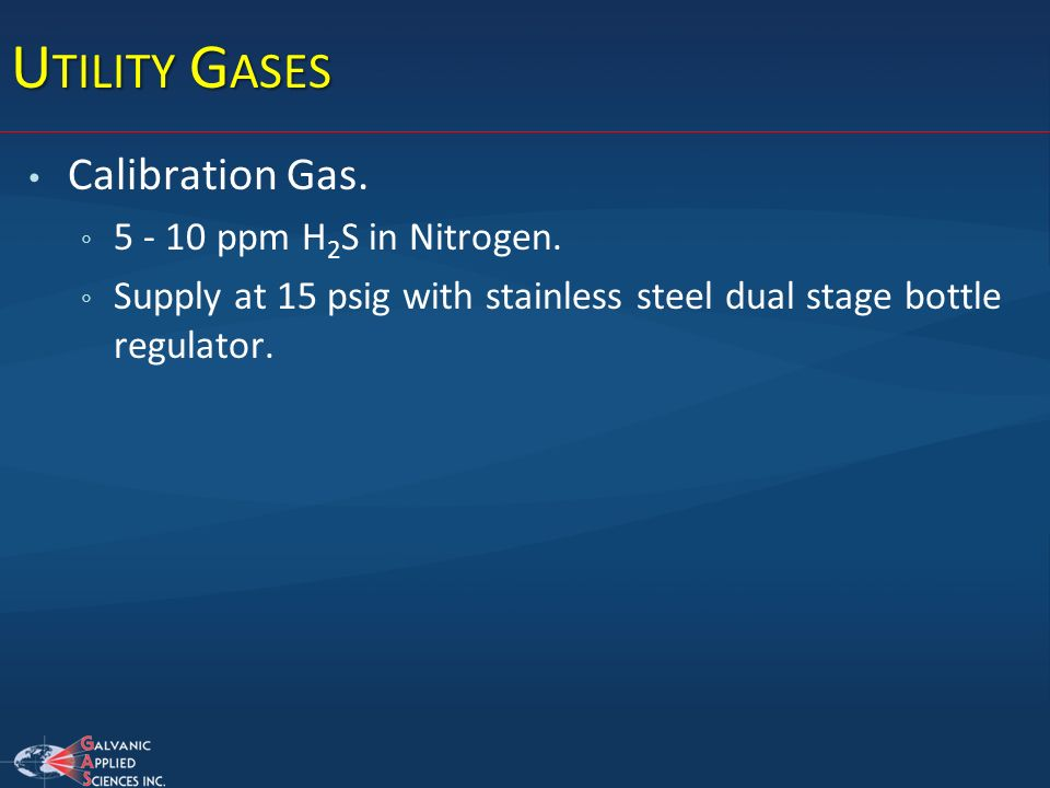 Utility Gases Calibration Gas. 5 - 10 ppm H2S in Nitrogen.